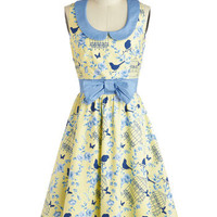 All the Worlds a Birdcage Dress | Mod Retro Vintage Dresses | ModCloth.com