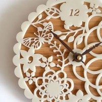 Kirie 01 Bamboo Clock by decoylab on Etsy
