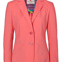 Etro - Flamingo Pink Cotton-Stretch Jacket