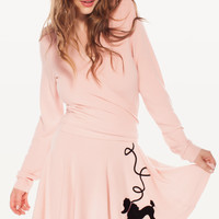 GREASE SWINGING SKIRT at Wildfox Couture in  POODLE PINK, - CLEAN BLACK