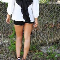 I Love You So Blouse: Black/White | Hope's