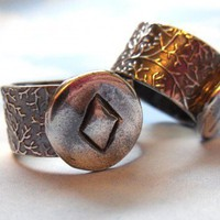 Ancient Runes Ring - Inguz - Harmony - Viking Elder Futhark - silver | NightOwlJewelry - Jewelry on ArtFire