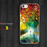 painting rain and tree iphone 5 cases Hard case Rubber case iphone 4 case iphone 5 cover the best iphone case unique design
