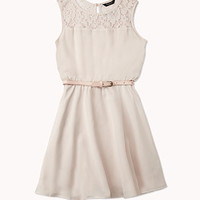 Crepe Woven Dress w/ Belt
