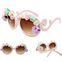 SakuraShop — Handmade Polymer Clay Rose Flower Frame Sunglasses