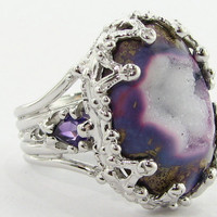 Duchess Ring in Violet Drusy