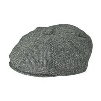 Jaxon Marl Tweed 8/4 Cap (Large, Black)
