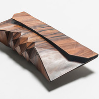 Wood Clutch: // ROSE //