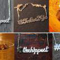 Survival of the Hippest- Customer Twitter ID Necklaces, Bracelets, Keychains and Rings