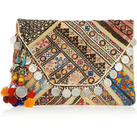 Antik Batik|Banjo embellished clutch |NET-A-PORTER.COM