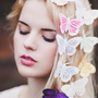 Glitter Pastel Feather Butterfly Hair Clips- Pick 1 Colour from Beauxoxo
