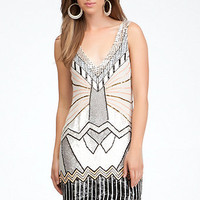 Art Deco Embellished Shift Dress