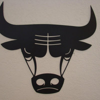 Bull Head 16 Gauge Metal Art Wall Hanging