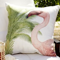 Pink Flamingo Outdoor Pillow