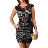 Black/Ivory Lace Dress