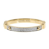Michael Kors Pave Hinge Bracelet, Golden
