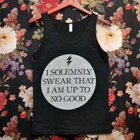 Tri-Blend 'I Solemnly Swear That I Am Up To No Good' Tank Top