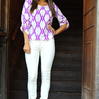 Check Me Out Top: Bright Purple | Hope&#x27;s