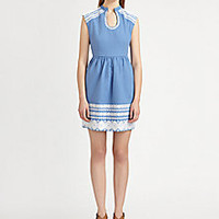 Suno - Embroidered Cotton Dress - Saks Fifth Avenue Mobile