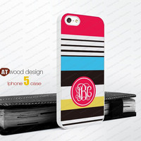 Monogram  iphone 4 case geometric Colors Hard case Rubber case iphone 4s case New Iphone 5 case unique case