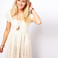 ASOS Crochet Smock Dress at asos.com