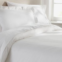 PB Organic 350-Thread-Count Duvet Cover & Sham - White