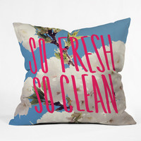 DENY Designs Home Accessories | Leah Flores So Fresh So Clean Throw Pillow