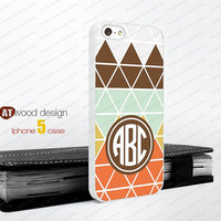 Monogram colors geometric  Iphone 5 case unique case Hard case Rubber case iphone 4 case