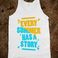 Every Summer Has A Story (tank) - Girly - Skreened T-shirts, Organic Shirts, Hoodies, Kids Tees, Baby One-Pieces and Tote Bags