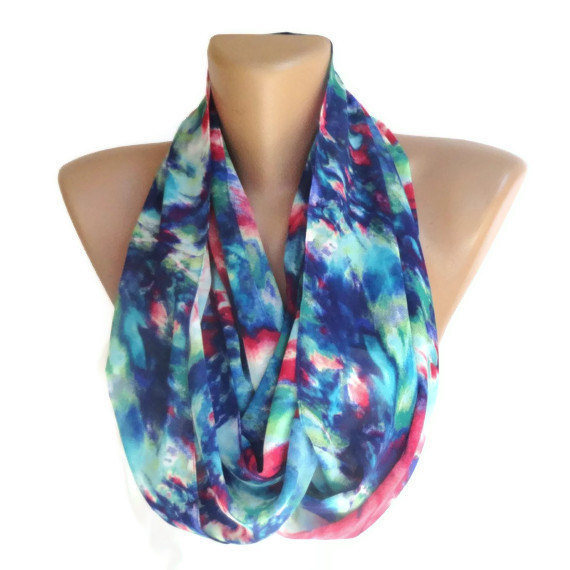 eternity neon color infinity loop scarf from scarveschic