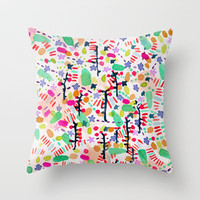 mint Throw Pillow by Randi Antonsen