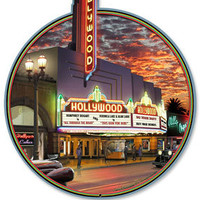 Hollywood Theater Marquee Metal Sign | Home Theater Signs | RetroPlanet.com