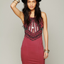 Free People Out of Africa Bodycon Dress