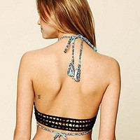 Acacia Swimwear  Crochet Back Halter Top at Free People Clothing Boutique