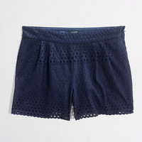Factory 3&quot; scalloped eyelet short