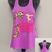 Racer tank w/ laced back- GYMNAST