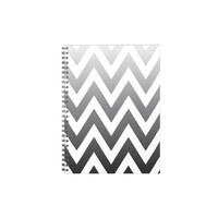 Ombre Chevron Spiral Notebooks from Zazzle.com