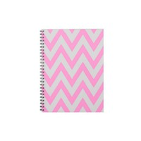 pink gray chevron spiral note books from Zazzle.com