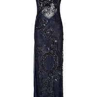 Emilio Pucci - Embellished Lace Evening Gown in New Navy