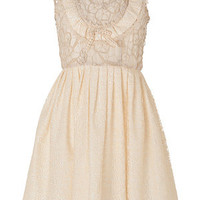 Anna Sui - Mixed Lace Dress in Cream