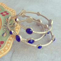 Pree Brulee - Royal Blue Palace Bangle Set