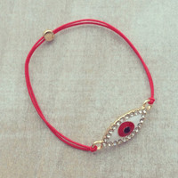 Pree Brulee - Red Evil Eye Bracelet