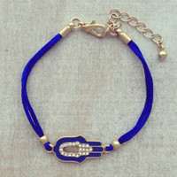 Pree Brulee - Royal Blue Hamsa Bracelet