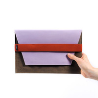 VPL | FleaBags + VPL: Lilac Envelope Clutch