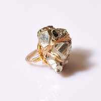 The Fancy Affair - Pyrite Cocktail Ring