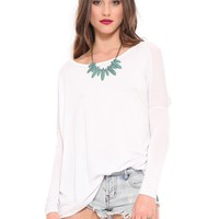 Renee Dolman Top - White - Clothes | GYPSY WARRIOR
