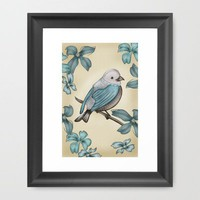 B Bird Framed Art Print by Carina Povarchik | Society6