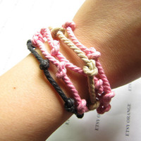 Personalized Design Multicolour Cotton Rope Woven by sevenvsxiao