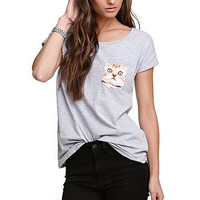 True Love &amp; False Idols Cat Pocket Tee at PacSun.com