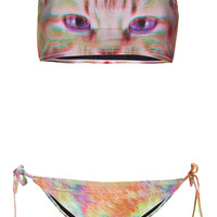 Pink Kitty Bandeau Bikini - Swimwear - Clothing - Topshop